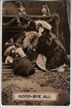 "Vintage postcard with Santa Claus : ""Santa - Good-Bye All""."