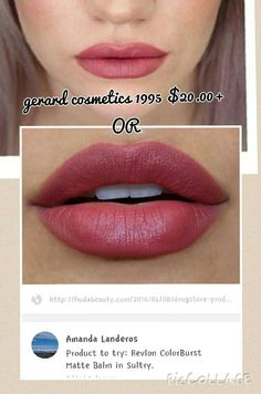 Dupe for Gerard Cosmetics 1995 = Revlon ColorBurst Matte Balm Sultry.