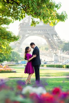 """I love Paris every moment Every moment of the year I love Paris, why, oh why do I love Paris Because my love is here"" - Frank Sinatra Wedding anniversary photo taken in spring time by Fran Boloni The Paris Photographer"