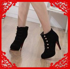 large size 34-43 Hot 2013 fashion female high heel platform ankle snow boots for women and woman autumn winter shoes #Y1009F $24.99 - 29.99