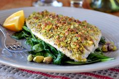 Minimal Monday: Pistachio Crusted Flounder - The View from Great Island