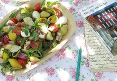 Italian Pasta Salad Recipe  Virginie Besançon, chef of the restaurant Les Petites Tables in Volx, shares a fesh recipe: An enchanting dish for the eyes and the taste buds. As an entrée, as part of a buffet, or a picnic; every occasion is an opportunity to serve this delicious salad.