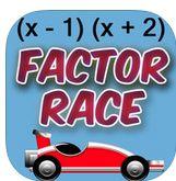 Factor Race Algebra App ($0.99) https://itunes.apple.com/us/app/factor-race-algebra/id413137077?mt=8