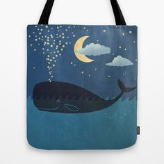 Whales. Stars. Love. :: Star-maker Tote Bag