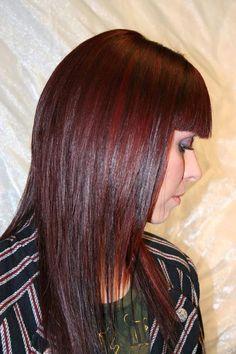 HAIR COLOR & HIGHLIGHTS IN ALEXANDRIA VA - GEOMETRICS HAIR DESIGN SALON-You'll love your hair color & highlights! more and more red highlights! can't wait to add this to my hair!