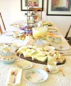 Tea Time idea- excellent source for recipes, planning and protocol for formal teas and parties
