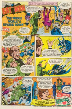Batman in The Whole World's Upside Down Hostess Ad