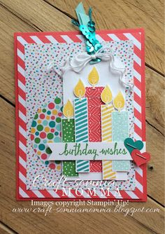 Rainbow Birthday Wishes ~ Monday Montage by Breelin Renwick | Craft-somnia Momma