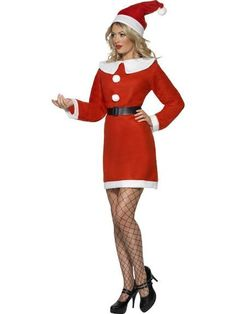 Budget Miss Santa fancy dress costume