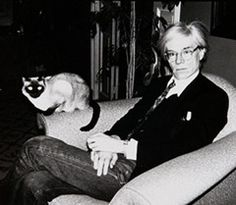 Andy Warhol and Cat