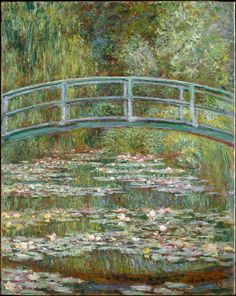 """Bridge over a Pond of Water Lilies"" 1899  Claude Monet. Oil on canvas: 36½ x 29 in. (92.7 x 73.7 cm) Metropolitan Museum of Art, New York."