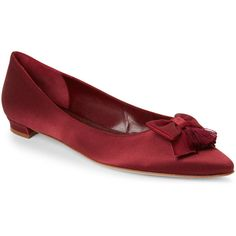 Designer Clothes, Shoes & Bags for Women Burgundy Shoes, Red Burgundy, Red Shoes, Low Heel Shoes, Low Heels, Shoes Heels, Dark Autumn, Bow Flats, Pointed Toe Flats