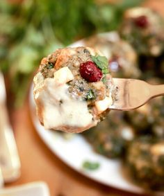 Cranberry & Feta Cheese Stuffed Meatballs