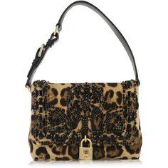 af875d0d9fd Dolce  amp  Gabbana Miss Dolce medium leopard-print calf hair shoulder bag  (€