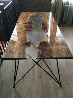 Brand new table top with the help of resin epoxy resin and elm .- Nagelneue Tischplatte mit Hilfe von Harz Epoxidharz und Ulme … – Holz DIY Ideen Brand new table top with the help of resin epoxy resin and elm …, # epoxy resin # brand new top -