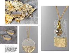 Handicrafts make you happy: jewelry made of concrete - jewelry made of concrete - decorative concrete Cement Jewelry, Ceramic Jewelry, Clay Jewelry, Beaded Jewelry, Handmade Jewelry, Unique Jewelry, Diy Schmuck, Schmuck Design, Diy Jewelry Projects