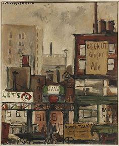 Joaquin Torres-Garcia, Escena de Calle, New York, 1921
