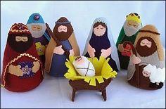 Nativity Felt Set - Patterns and Instructions