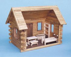 Crocketts Log Cabin Dollhouse by Real Good Toys is designed as a simple, cozy cabin like that of the famous frontiersman, soldier and politician. Like many of his time, Davey may have built his own fu