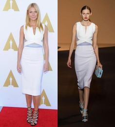 Gwyneth Paltrow wears Roland Mouret spring '15 to a luncheon in L.A.