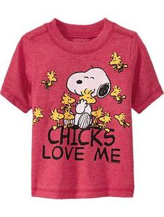"""Snoopy® """"Chicks Love Me"""" Tees for Baby 