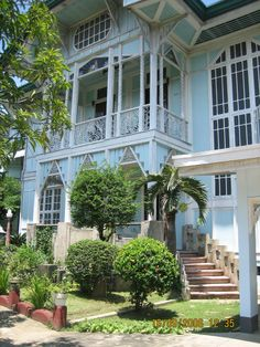 1933 Luis Santos House -- Malolos, Bulacan | Filipino Architecture, Philippine Architecture, Tropical Architecture, Filipino House, Philippine Houses, Philippines Culture, Bamboo House, Bali, Spanish House