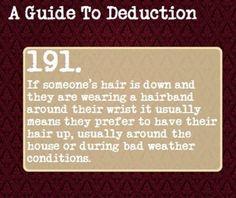 Resultado de imagem para a guide to deduction 191