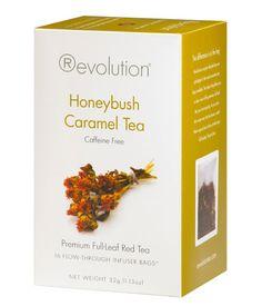 Sher's note: I looooove Revolution Tea Honeybush Caramel --- smells and tastes divine!