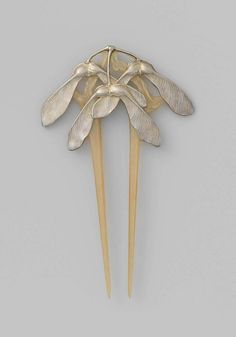 Lucien Gaillard, horn and silver hair comb, Paris, ca. 1902-06. | Rijksmuseum