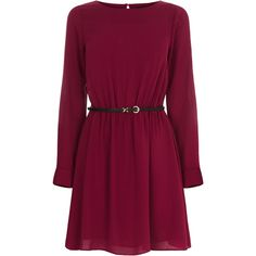 OASIS Plain Long Sleeve Skater Dress ($17) ❤ liked on Polyvore featuring dresses, vestidos, short dresses, purple, long-sleeve maxi dress, short fit and flare dress, short sleeve dress and mini dress