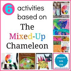Such fun ways to explore The Mixed-Up Chameleon through play!