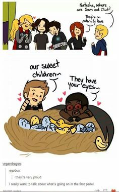 This is awesome. Bucky's hair made by Thor, hahahaha! Tony with Bucky's arm. :)// Pigtailed Thor is best Thor Marvel Dc Comics, Marvel Avengers, Marvel Jokes, Marvel Funny, Avengers Cartoon, Marvel Universe, Nananana Batman, Dc Memes, The Villain
