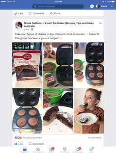 Mini Pie Recipes, Nutella Recipes, Chocolate Recipes, Sweet Recipes, Cake Recipes, Cooking Recipes, Pie Ideas, Food Ideas, Biscuit Cupcakes