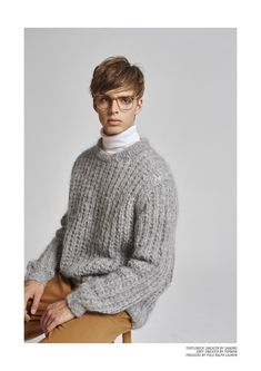 Turtleneck Sweater by Sandro; Grey Sweater by Topman; Trousers by Polo Ralph Lauren. DAAN VAN DER DEEN BY LUCIANO INSUA FOR CARBON COPY #22