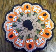 such a cute halloween candle mat to be inspired by