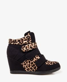 Forever 21 | Leopard Print Wedge Sneakers | US$39.80