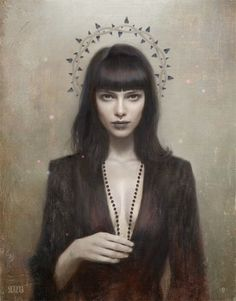 Tom Bagshaw 'A Blacker Heart' -- The closest I have come to an illustration that matches the way I imagine Chess from Downside Ghosts. Just needs the tattoos. Dark Fantasy, Fantasy Art, Character Portraits, Character Art, Vampire Masquerade, World Of Darkness, Art Et Illustration, Portrait Art, Dark Art