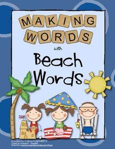Making Words - Beach Words  $