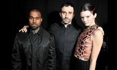 Kanye West supports Kendall Jenner at Givenchy show
