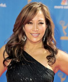 Carrie Ann Inaba Hairstyle - Long Wavy Formal -