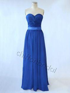 8966f59e7a6d95 Simple prom dress blue long prom dress woman by chiffonbridal Lange  Bruidsmeisjekleding