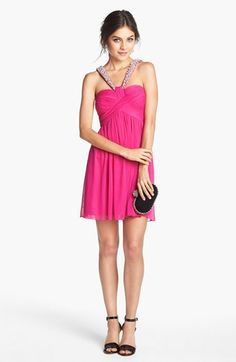 Way-In Embellished Pleat Bodice Dress (Juniors) available at #Nordstrom?  Homecoming for Raegan