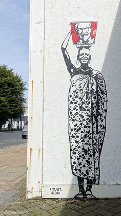Murals Street Art, 3d Street Art, Street Art Graffiti, Mural Art, Graffiti Artists, Stencil Graffiti, Stencil Art, Stencils, Pavement Art
