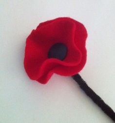 Simple Memorial Day Remembrance Poppy Flower #Kids #Craft
