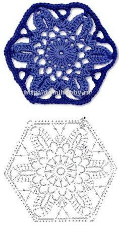 Crochet floral motivos