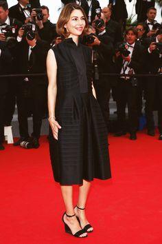 Sofia Coppola attends the Saint Laurent premiere during the...