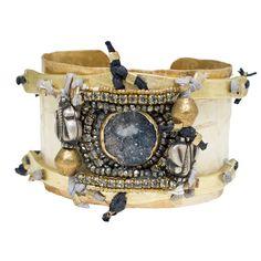 Cosmic Nomad Brass Bracelet | de petra