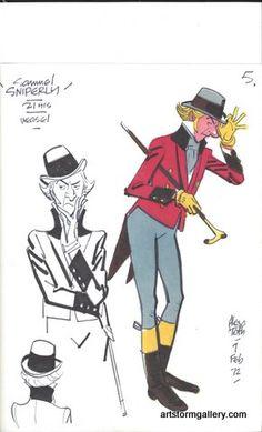 """""""Oliver the Artful Dodger"""" Alex Toth signed 1972 ink and Maker - drawing of Sammel Sniperly"""