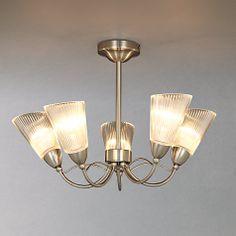Buy John Lewis Monique Semi-flush Light, 5 Light Online at johnlewis.com £70 Semi Flush Lighting, Lighting Online, John Lewis, Chandelier, Ceiling Lights, Bedroom, Stuff To Buy, Decor, Decorating