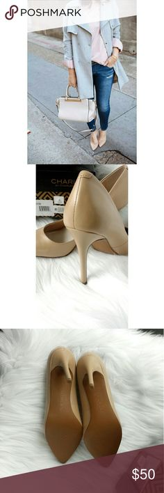CHARLES DAVID Nude PACT Pointed Toe Pumps The perfect nude pumps. Pointy toe heels. New in box. Only tried on. Charles David Shoes
